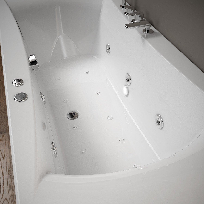 Baignoire baln o avec robinetterie rectangulaire l - Baignoire balneo avis consommateur ...