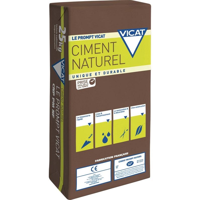 très loué détaillant en ligne magasin en ligne Ciment Naturel Prompt Vicat, 25 kg NF