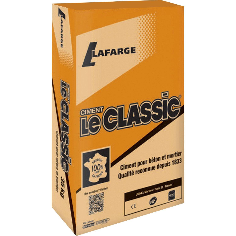 Ciment gris 32 5 r nf le classic lafarge 35 kg leroy merlin - Dosage beton pelle sac 35 kg ...