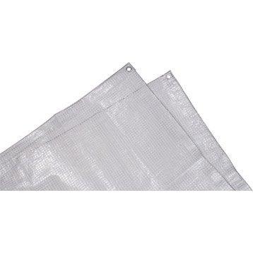 Bâche de protection en pe rectangulaire 400 x 500 cm transparent