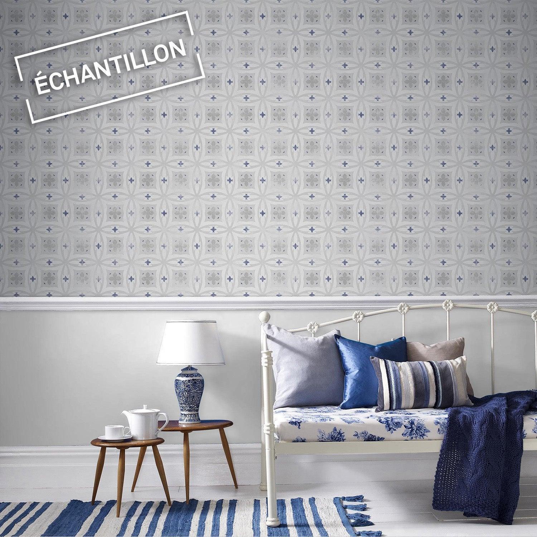 echantillon papier peint intiss carreaux de ciment leroy merlin. Black Bedroom Furniture Sets. Home Design Ideas