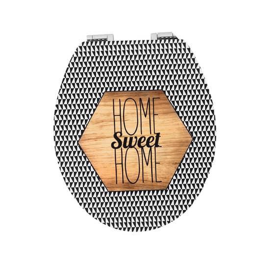 abattant frein de chute d clipsable multicolore bois compress home sweet home leroy merlin. Black Bedroom Furniture Sets. Home Design Ideas