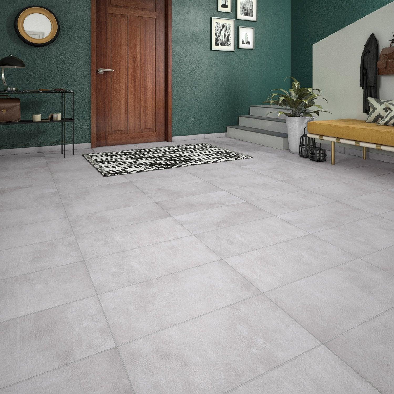 Carrelage Gris Clair Couleur Mur carrelage sol et mur forte effet pierre gris clair raison l.30.8 x l.61.5 cm