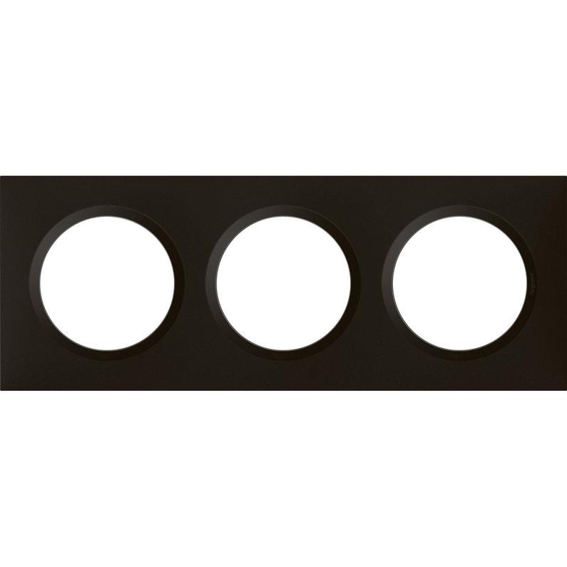 Plaque Triple Dooxie Legrand Noir Velour