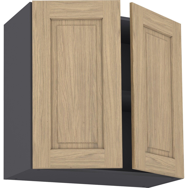 Facade De Cuisine En Chene Massif meuble haut de cuisine prague chêne , 2 portes h.77 l.80 cm x p.35 cm