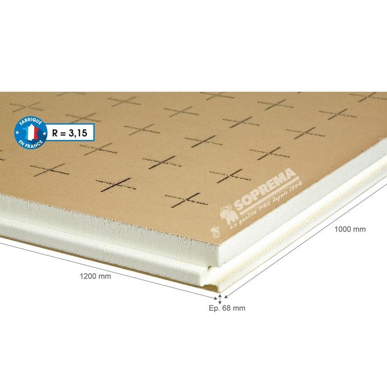 5 Panneaux Pour Isolation Polyuréthanepapier Kraftl1xl12xep68mmrr3 à R5