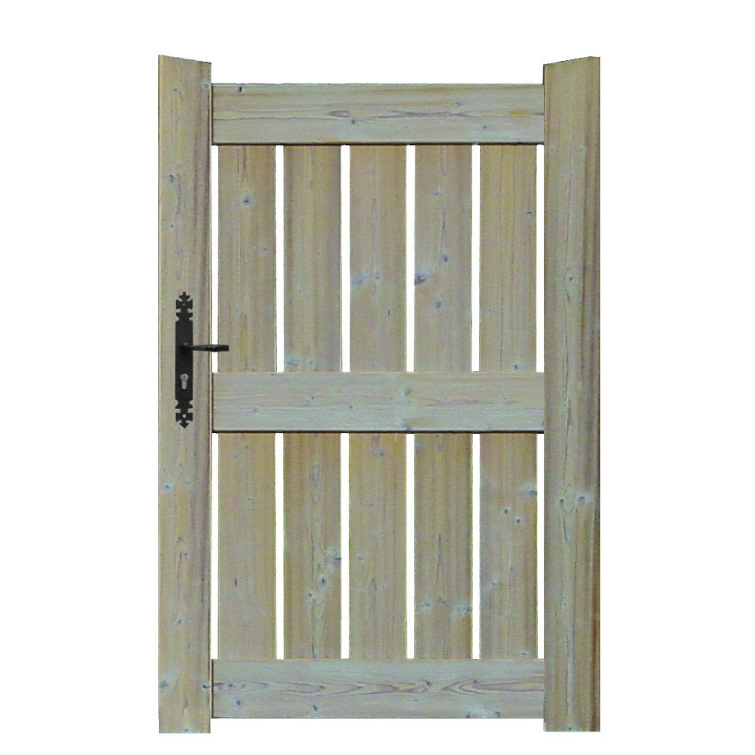 Portillon battant le porge x cm naturel leroy merlin - Portillon jardin bois ...