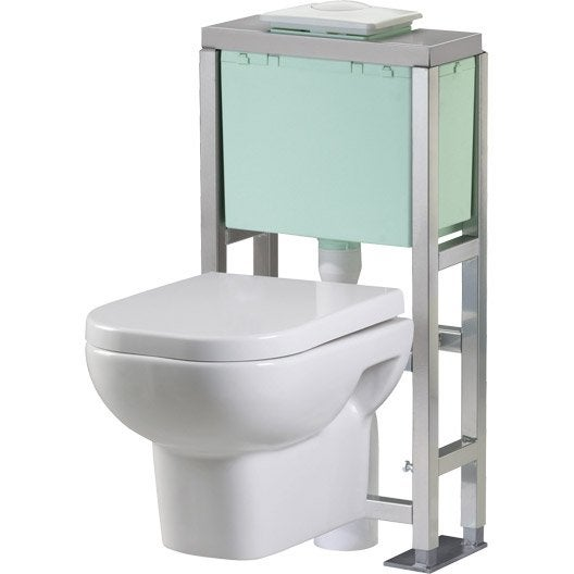 pack wc suspendu gain de place eureka leroy merlin. Black Bedroom Furniture Sets. Home Design Ideas