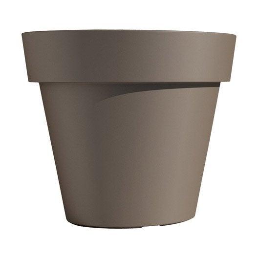 pot polypropyl ne euro3plast 100 cm x cm tourterelle leroy merlin. Black Bedroom Furniture Sets. Home Design Ideas