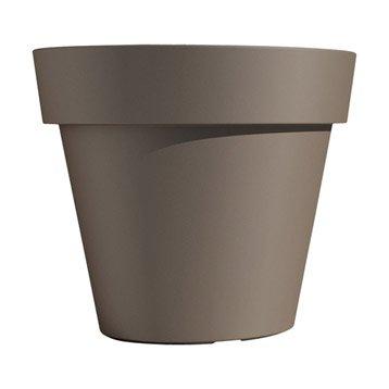 Pot polypropylène EURO3PLAST, ø.100 cm x H.89 cm, tourterelle