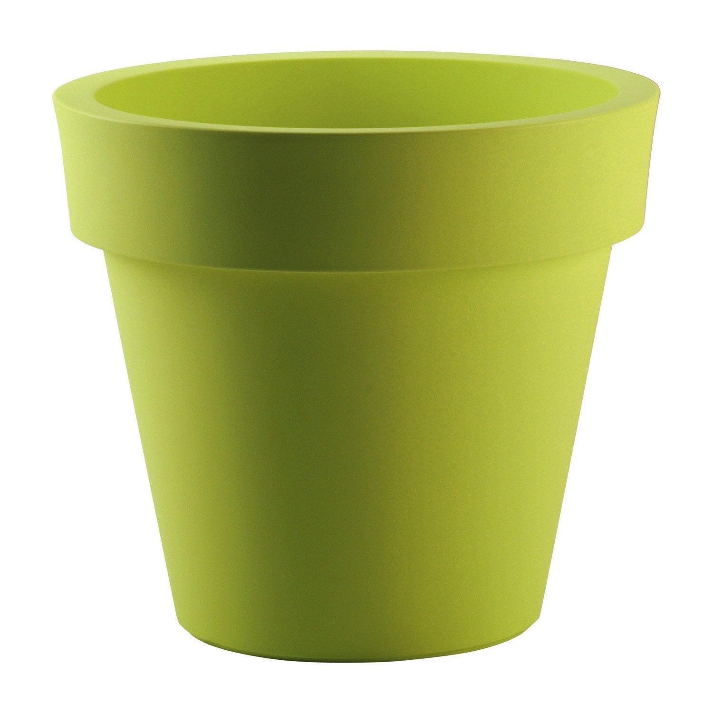 Pot polypropylène EURO3PLAST, ø.120 cm x H.107 cm, vert anis
