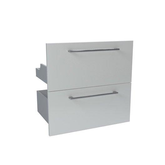 2 tiroir sensea remix blanc286046 cm leroy merlin