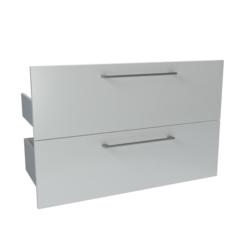lot de 2 tiroirs blanc l90 cm x p46 cm remix  leroy merlin