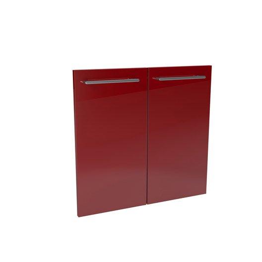 Lot de 2 portes rouge remix leroy merlin for Collection maison leroy merlin