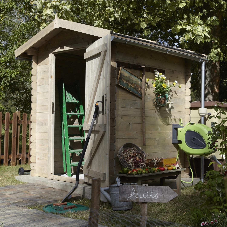 Abri de jardin bois Bex, 2.43 m² Ep.19 mm | Leroy Merlin