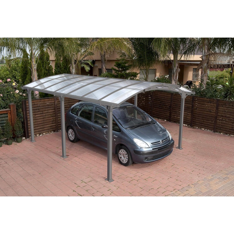 Carport Pour Voiture carport métal arcadia 1 voiture, 16.31 m² | leroy merlin