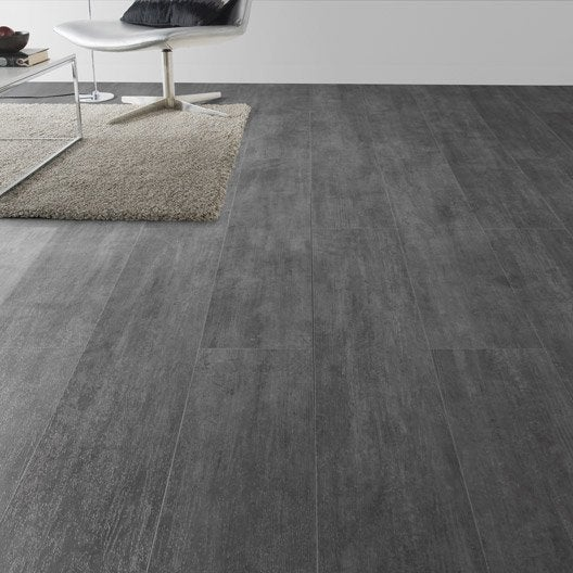 Lame pvc clipsable gris nolita grey senso lock gerflor - Dalles pvc adhesives pas cher ...