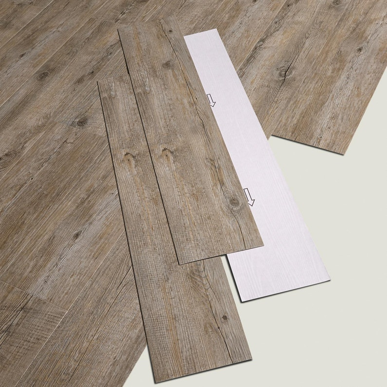 lame pvc adh sive gris pecan senso rustic gerflor leroy merlin. Black Bedroom Furniture Sets. Home Design Ideas