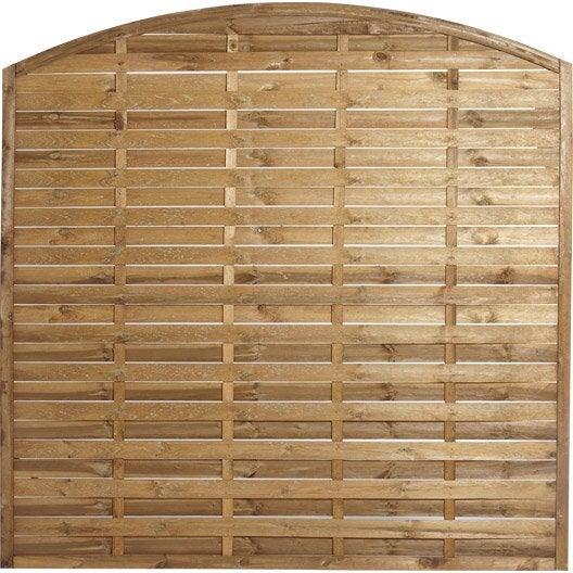 panneau en bois arc plein naterial l 180 x h 180 cm marron. Black Bedroom Furniture Sets. Home Design Ideas