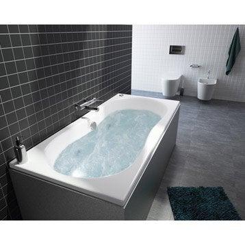 baignoire baln o avec tablier rectangulaire allibert balneomix 180 x 80 cm. Black Bedroom Furniture Sets. Home Design Ideas