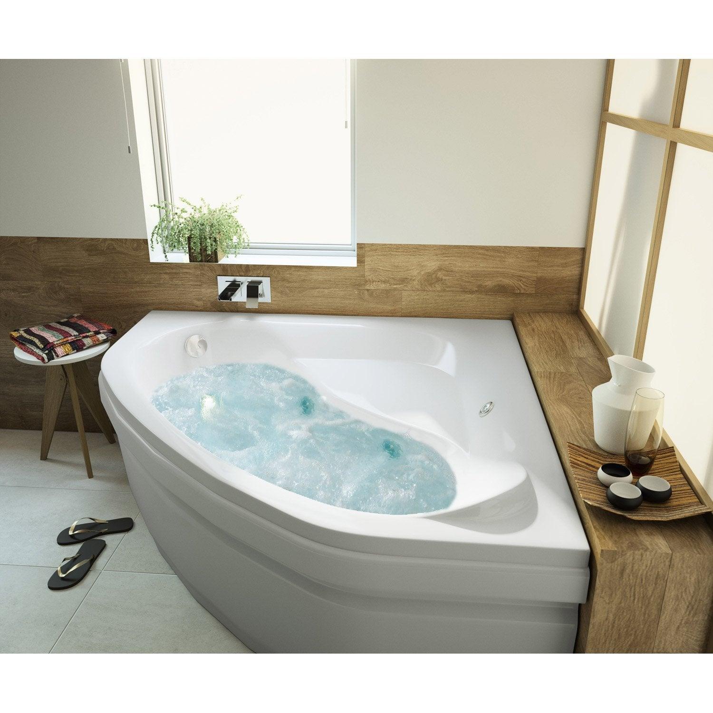 baignoire baln o avec tablier angle cm allibert balneomix leroy merlin. Black Bedroom Furniture Sets. Home Design Ideas