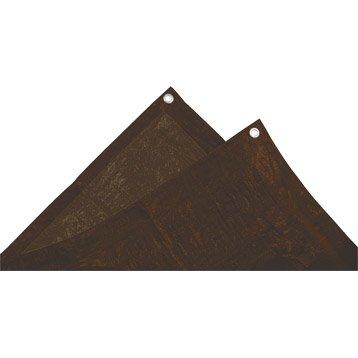 Bâche de protection en pe rectangulaire 150 x 600 cm marron