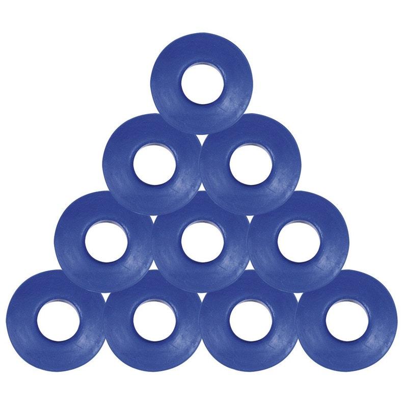 Lot De 10 Oeillets En Pvc Bleu