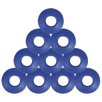 Lot de 10 oeillets en pvc bleu