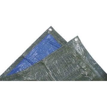 Bâche de protection en pe rectangulaire 400 x 500 cm bleu