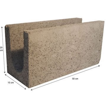 Chaînage horizontal 15x20x50 cm