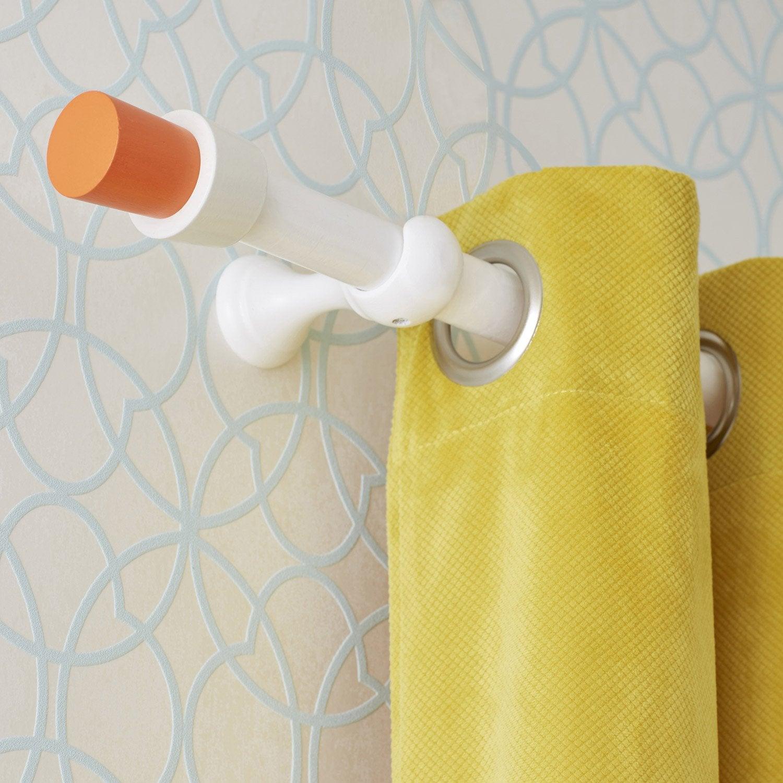 Embout INSPIRE, orange brut, pour tringle à rideau Diam.28 mm