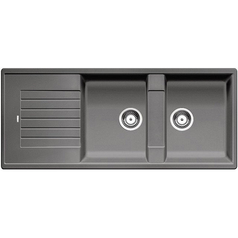 evier encastrer granit et r sine gris m tallis zia 2. Black Bedroom Furniture Sets. Home Design Ideas