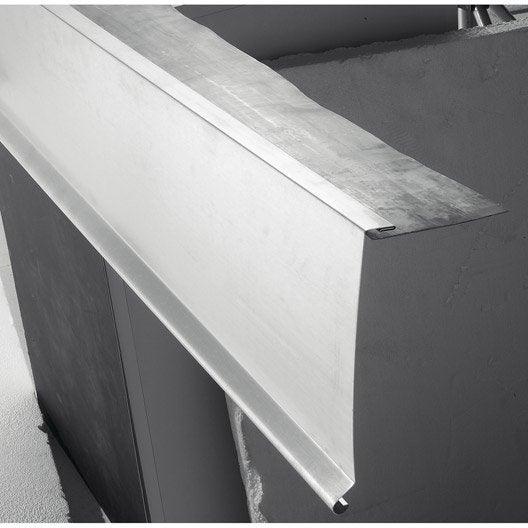 bande de rive larg 240mm long 2m leroy merlin. Black Bedroom Furniture Sets. Home Design Ideas