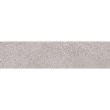 Lot de 3 plinthes Toscane gris, l.8 x L.32.5 cm