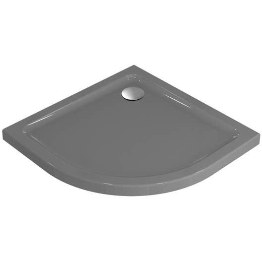 receveur de douche 1/4 de cercle en gres