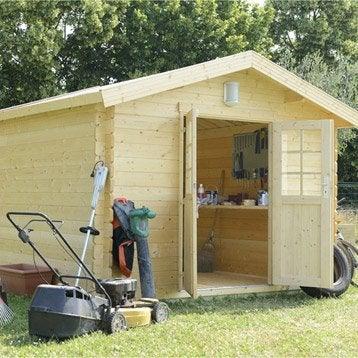 Abri de jardin en bois naterial ismo p 34mm - Abri de jardin en bois naterial tepsa ...