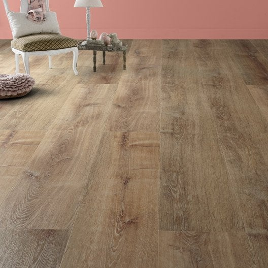 Lame Bois Clipsable : Lame pvc clipsable bois oak naturel revelation leroy merlin