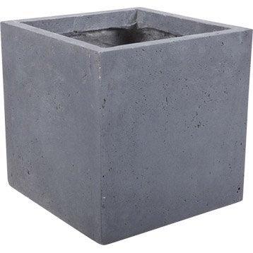 Pot de fleurs jardini re poterie xxl cache pot bac - Pot exterieur gris ...