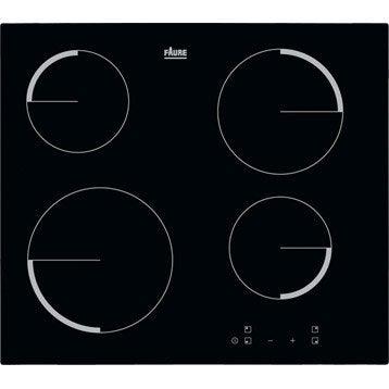 Plaque vitrocéramique 4 foyers, noir, FAURE F6104IVK