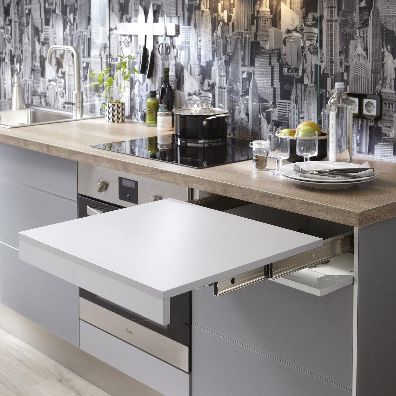kit d 39 extension de plan de travail gris x cm leroy merlin. Black Bedroom Furniture Sets. Home Design Ideas