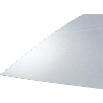 Plaque polystyrène clair givré, L.100 x l.50 cm x Ep.5 mm