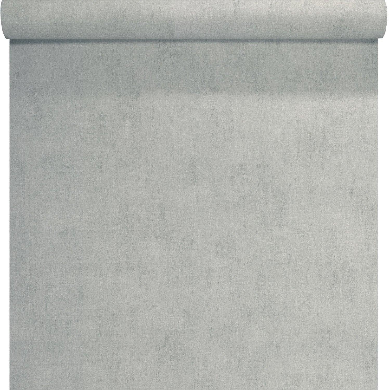 Papier Peint Intisse Uni Beton Gris Clair Leroy Merlin