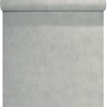 Papier peint Uni béton, gris clair
