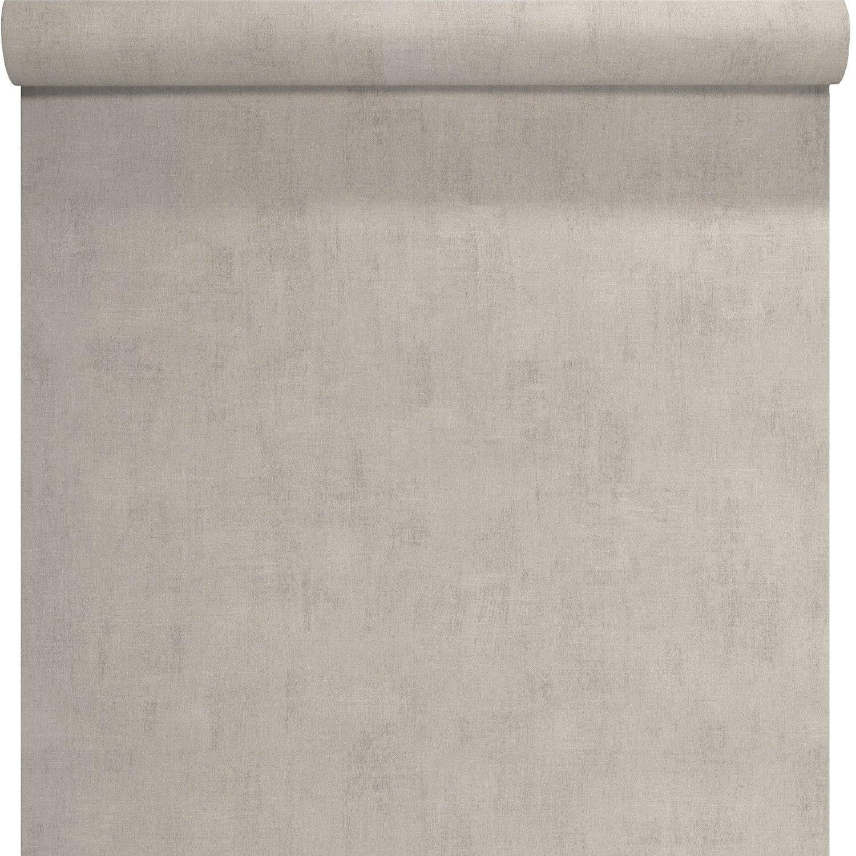 Papier Peint Intisse Uni Beton Blanc Leroy Merlin