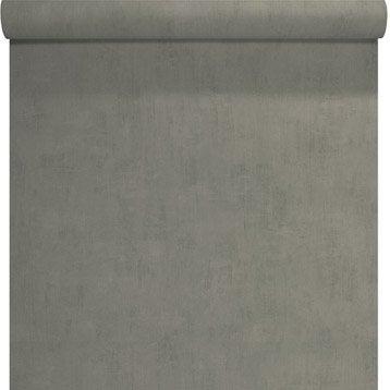 Papier peint Uni béton, gris foncé