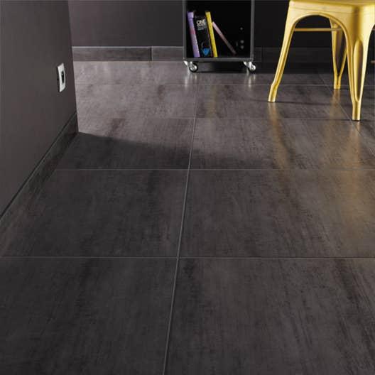 carrelage sol et mur noir effet b ton eiffel x cm leroy merlin. Black Bedroom Furniture Sets. Home Design Ideas