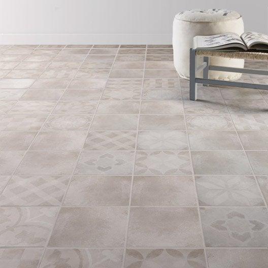 Carrelage sol et mur gris effet ciment bistro x cm leroy merlin - Carrelage clipsable leroy merlin ...