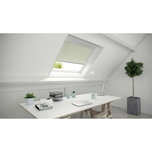 store fen tre de toit occultant blanc ivoire n 5 blanc. Black Bedroom Furniture Sets. Home Design Ideas