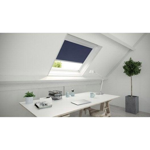 store fen tre de toit occultant bleu artens leroy merlin. Black Bedroom Furniture Sets. Home Design Ideas