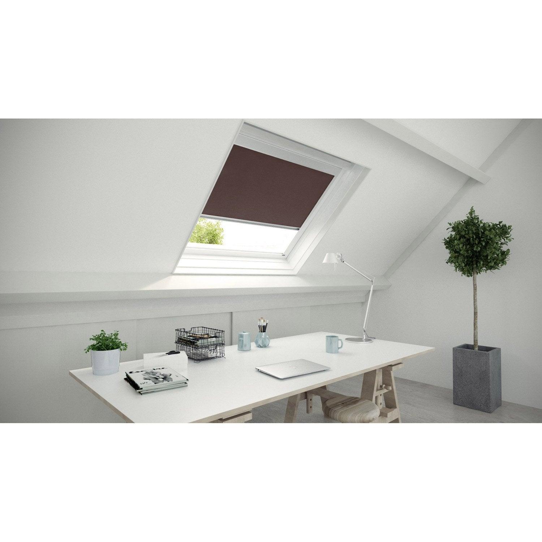 store fen tre de toit occultant brun chocolat n 1 artens leroy merlin. Black Bedroom Furniture Sets. Home Design Ideas